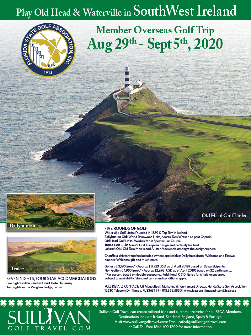 Best Golf Gifts 2020 Visit South West Ireland with the FSGA!