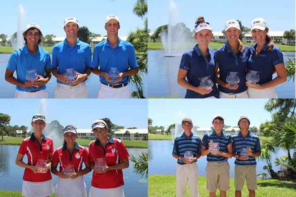 The Emerald Coast Junior Golf Tour State Championships Teams 2018: John David Cobb, Patrick Poate (Medalist), Chase Hurt: Madi Messmore, Lauren Miller, Cameron Fish